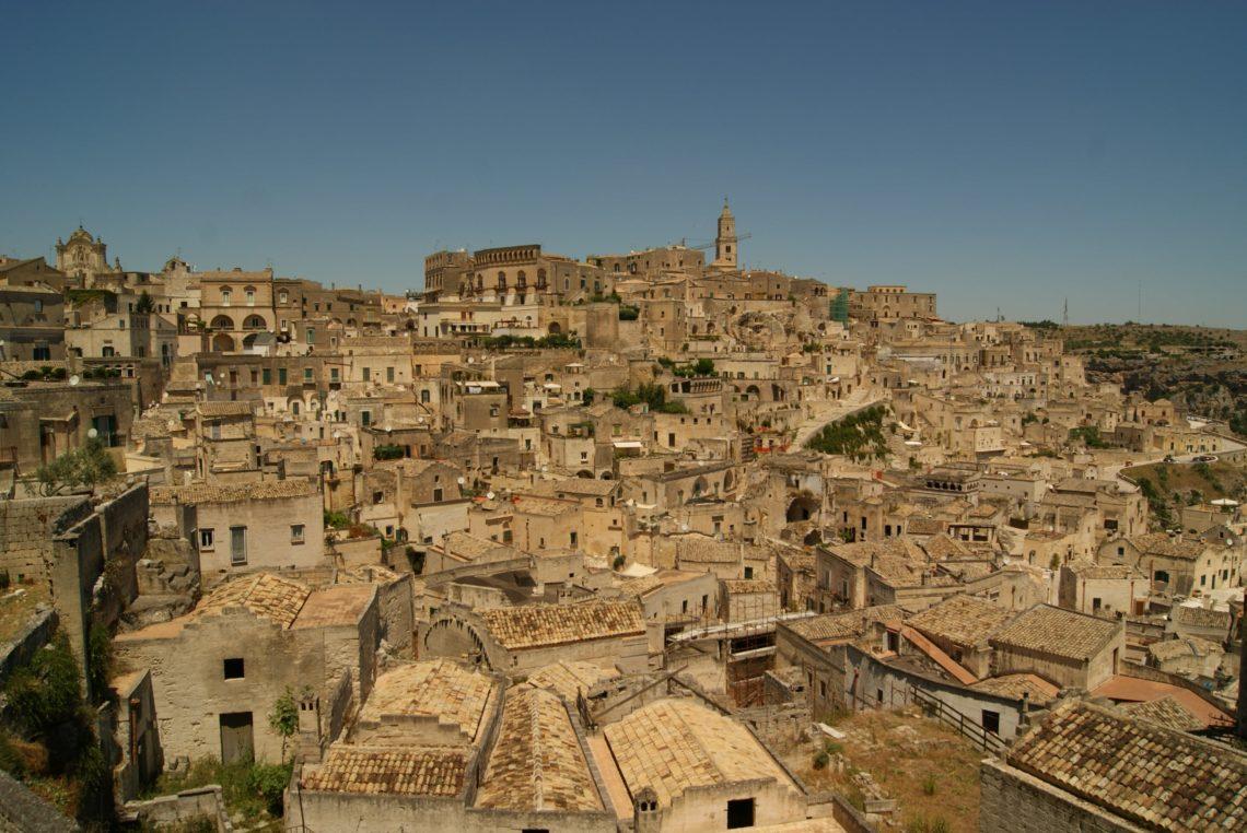 Vista panorâmica de Matera.