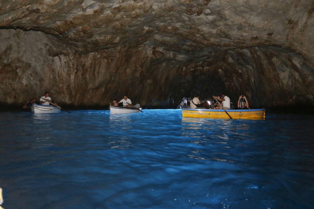 Gruta Azul em Capri – Campânia – Sul da Itália