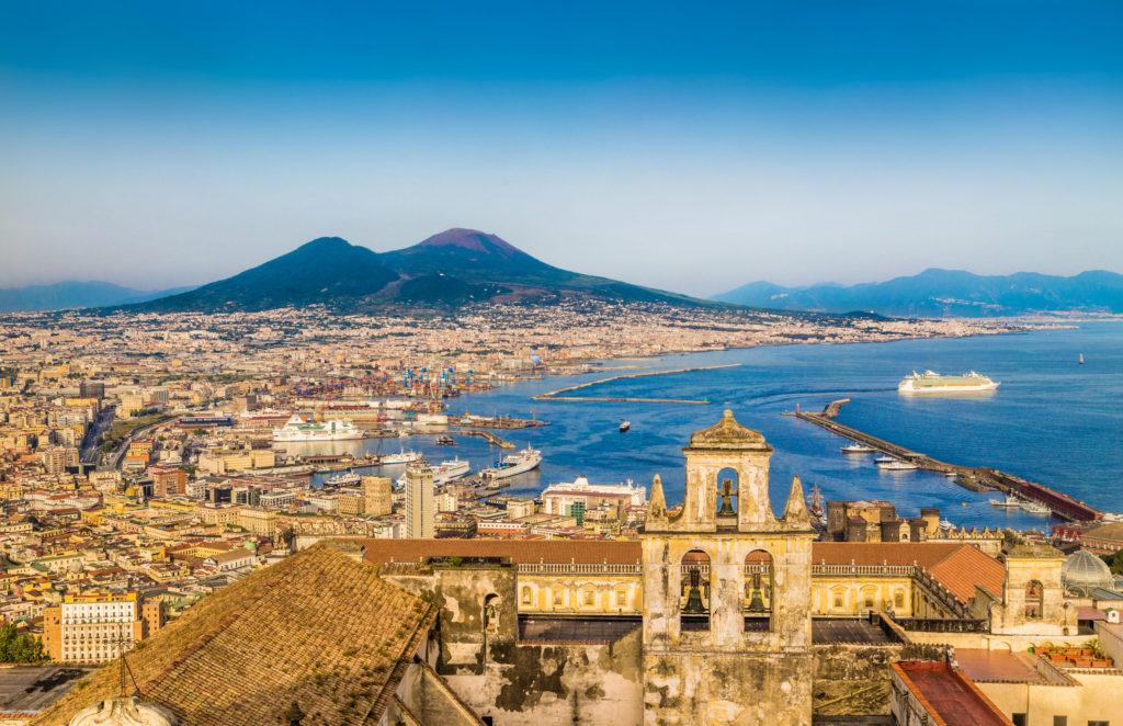 Vista panorâmica de Nápoles