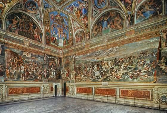 Sala di Costantino - Stanze di Raffaello - Museus Vaticanos