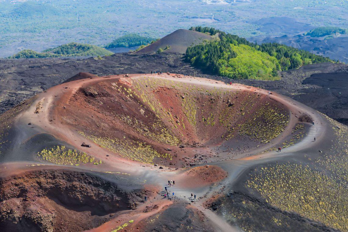 Vista aérea do Monte Etna