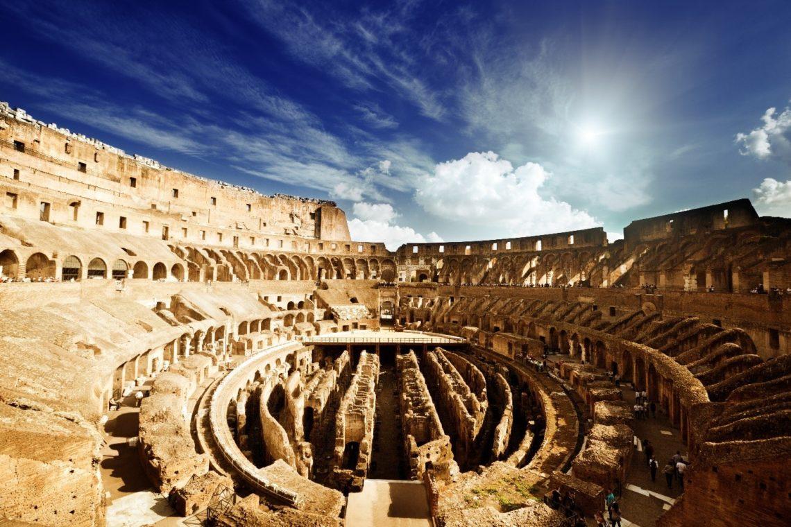 Coliseu visto de dentro