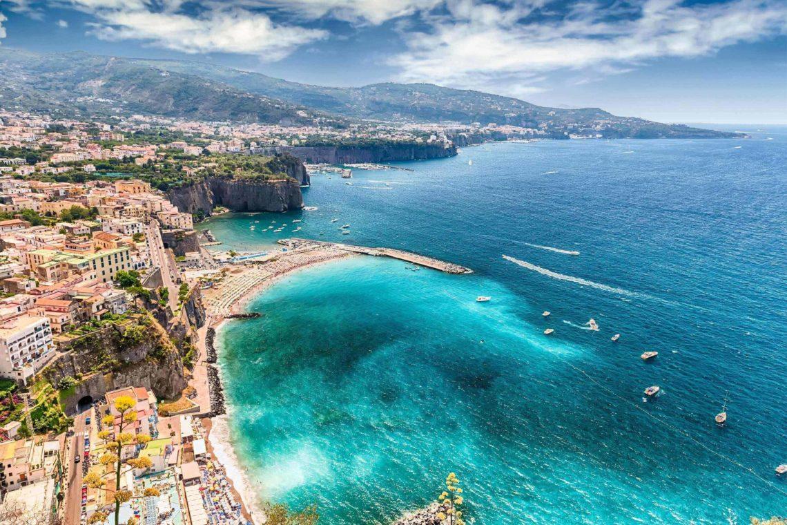 Vista aérea de Sorrento.