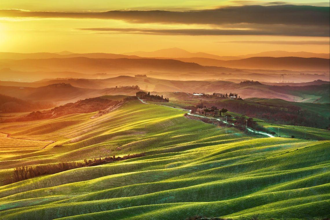 Típica paisagem campesina da Toscana