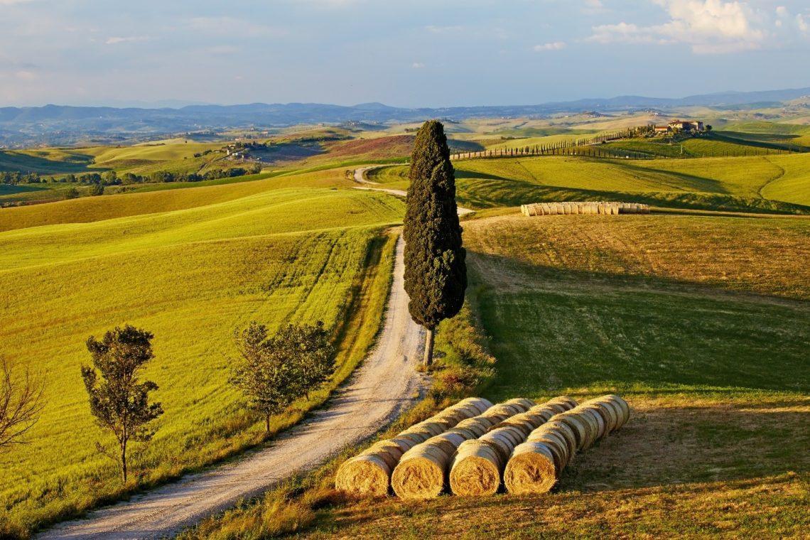 Toscana, uma das mais belas regiões da Itália, lugar de origem da família Piccolomini de Enea Silvio.