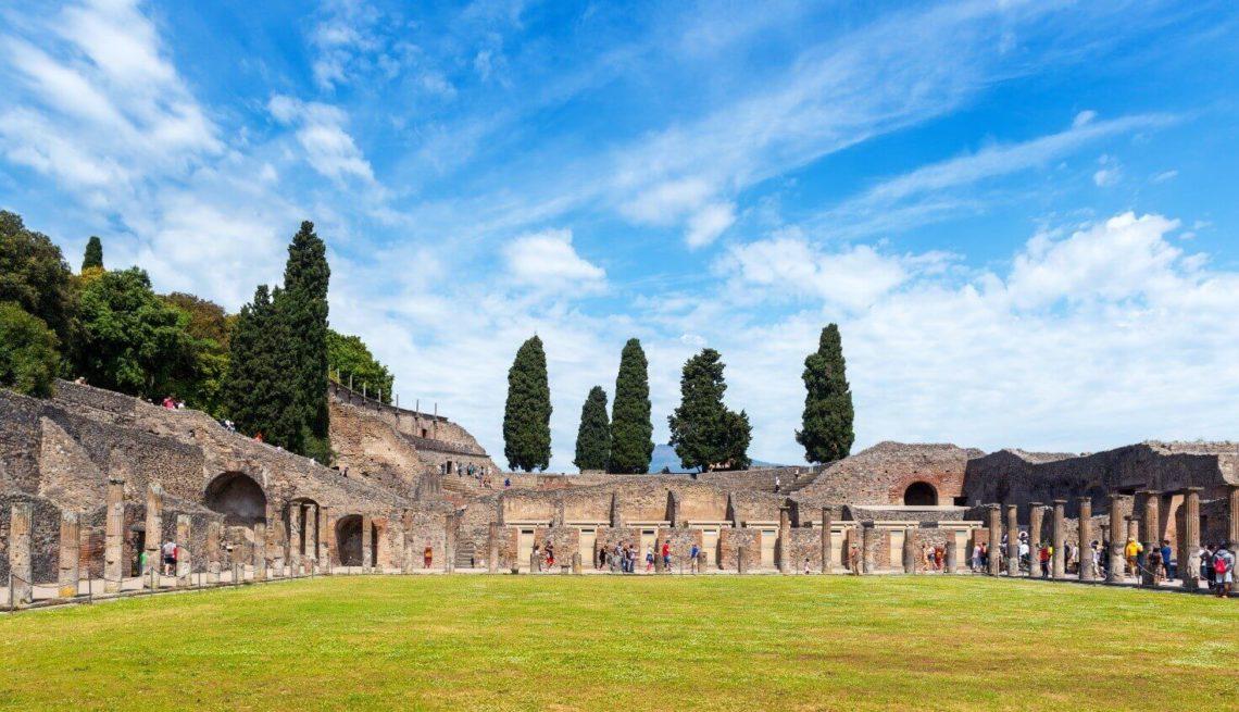 Quadripórtico dos Teatros em Pompeia