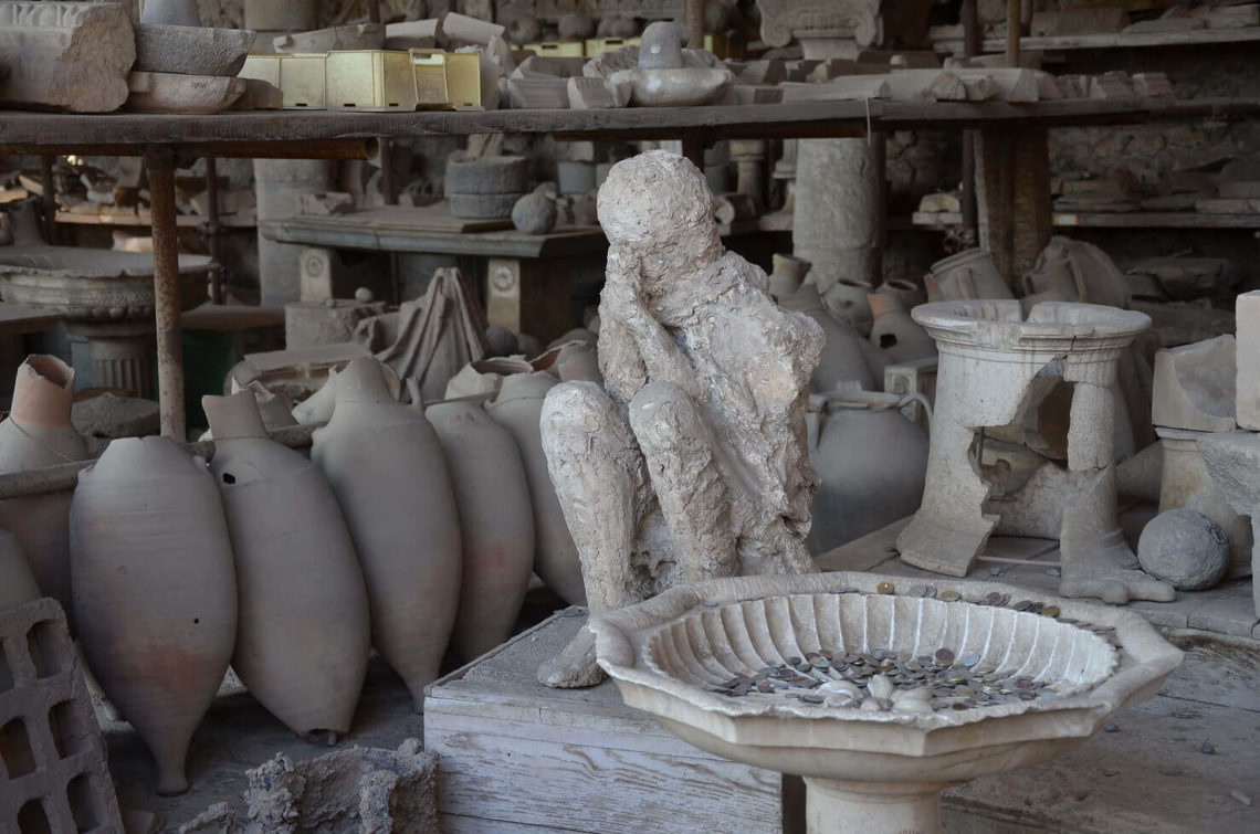 Ruínas de Pompeia.