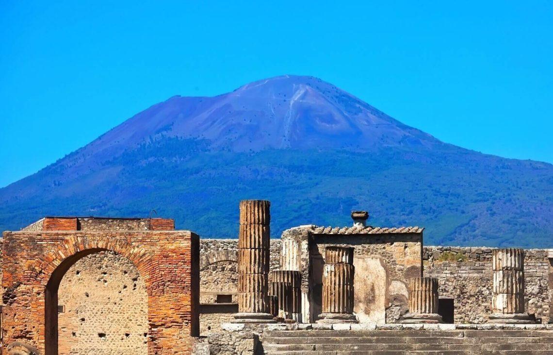 Vesúvio visto de Pompeia