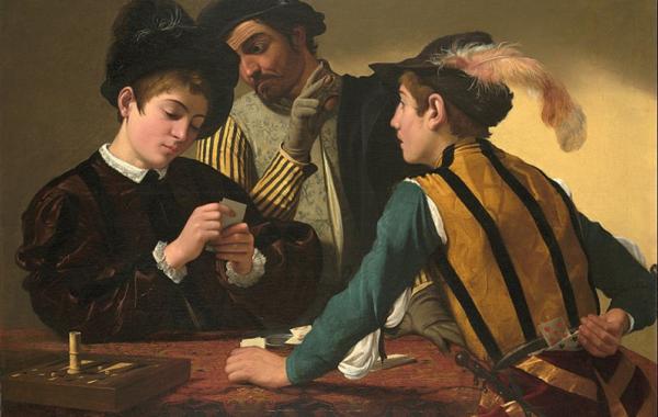 Os Trapaceiros (1594) de Caravaggio