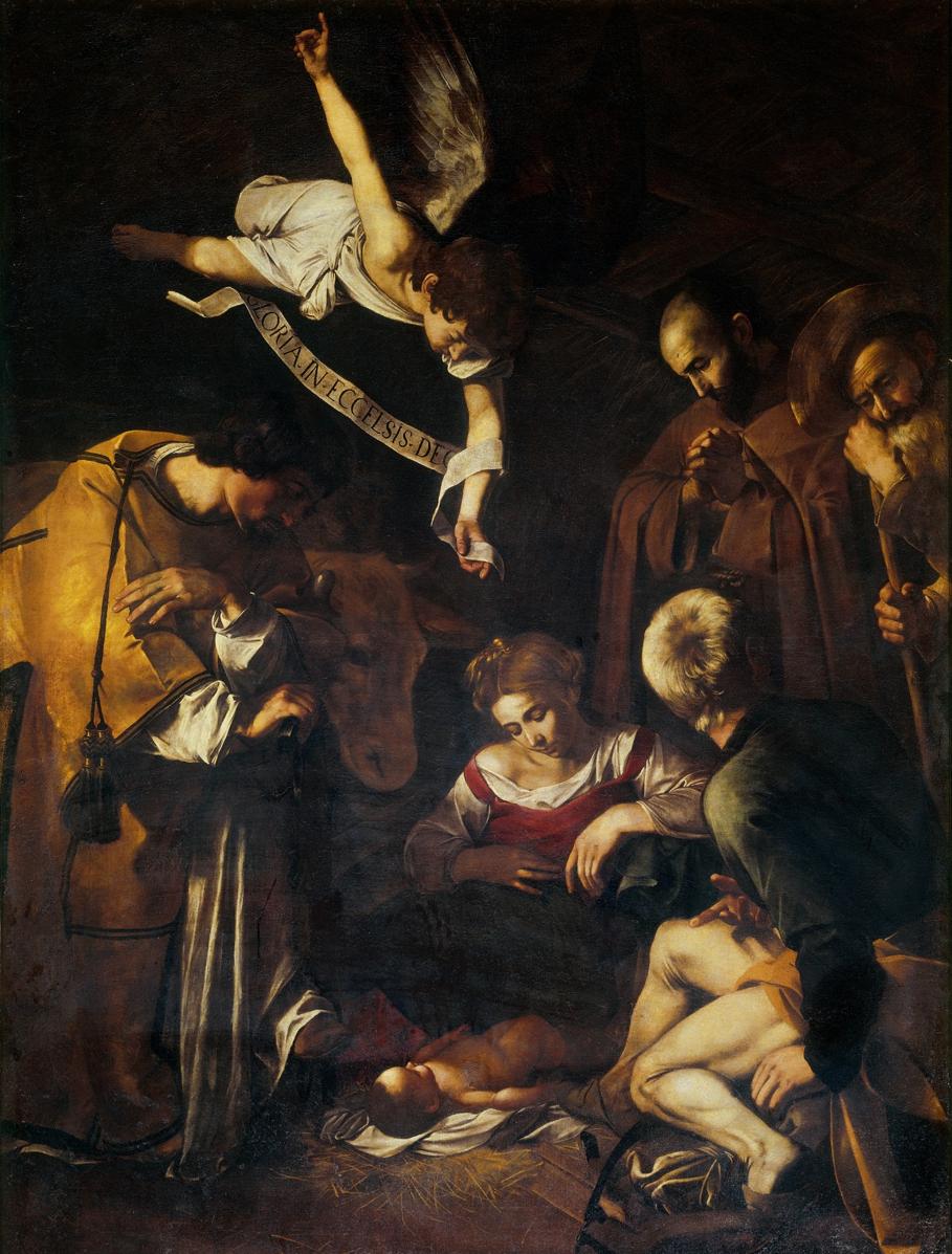Natividade com São Lourenço e São Francisco de Caravaggio