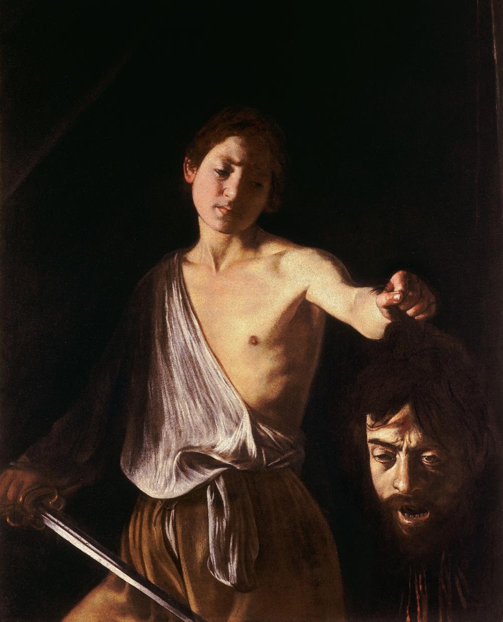 Davi com a cabeça de Golia de Caravaggio