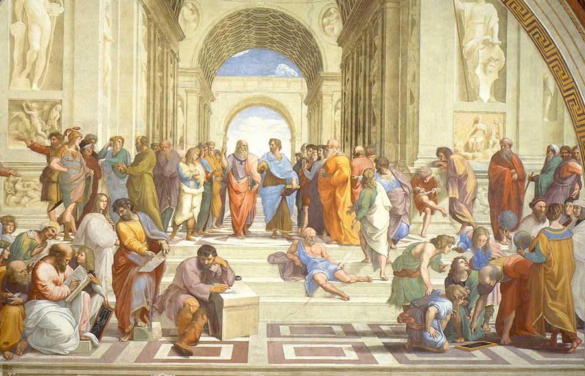 A escola de Atenas de Raffaello Sanzio