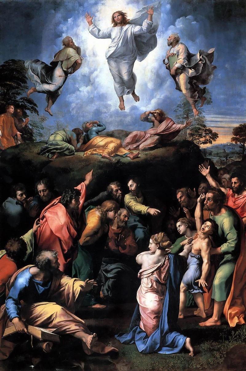 A Transfiguração, obra inacabada de Raffaello Sanzio