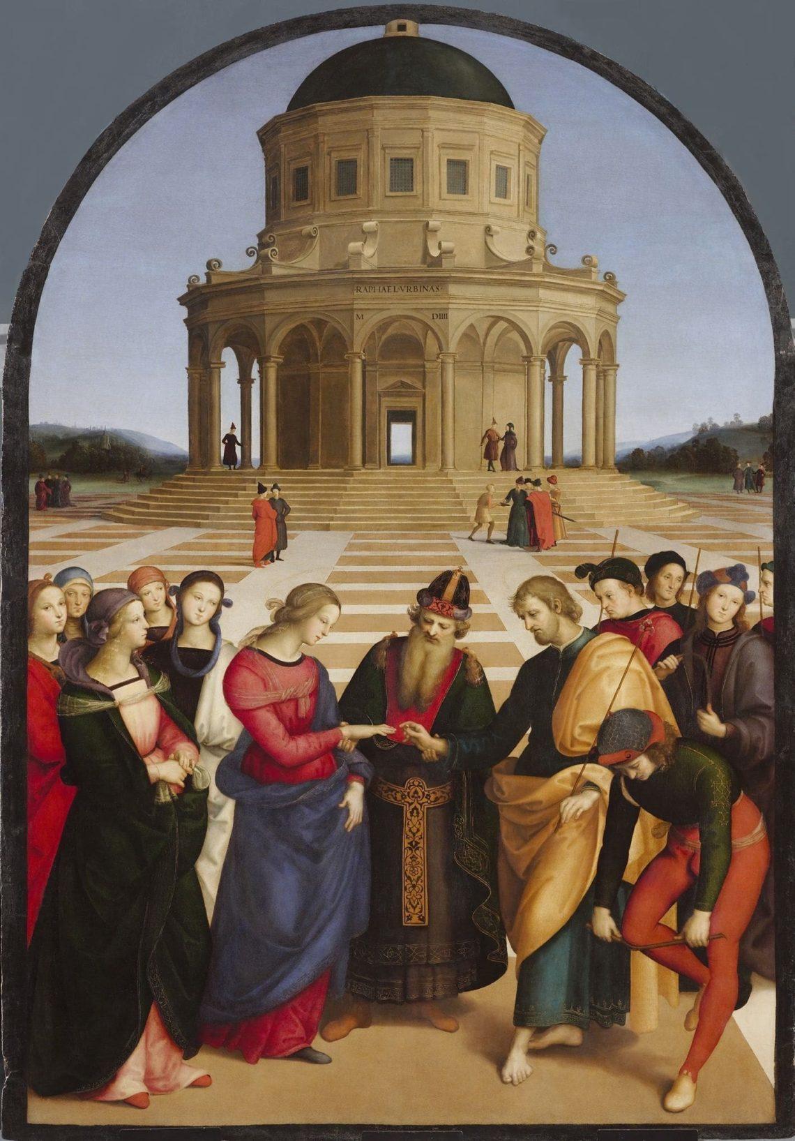 Casamento da Virgem de Raffaello Sanzio